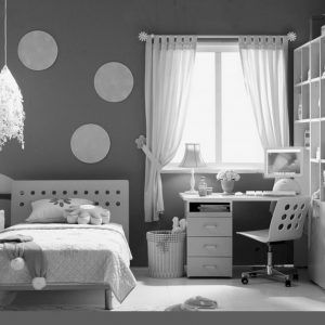Black And White Teenage Bedroom Designs