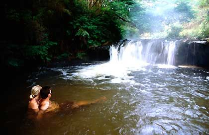Local secret ... Kerosene Creek hot spring. (top 5 things to do for free in New Zealand)