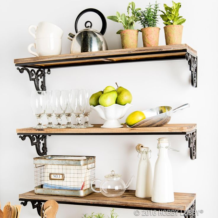 Give your kitchen a modern makeover with open shelving