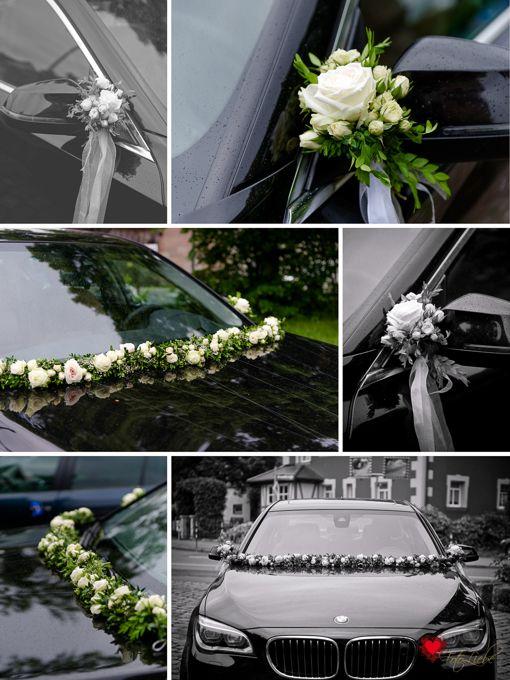 Wedding flower wedding car