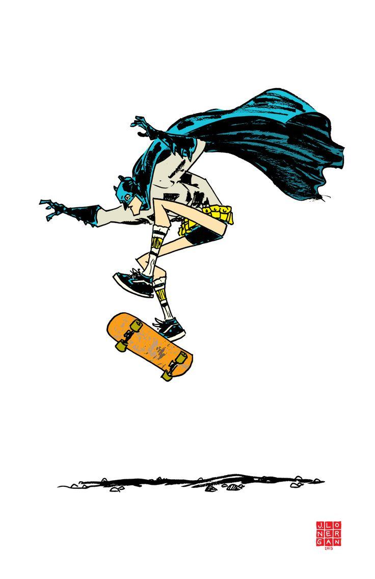 Batman Skateboarding #ill #dc #comic