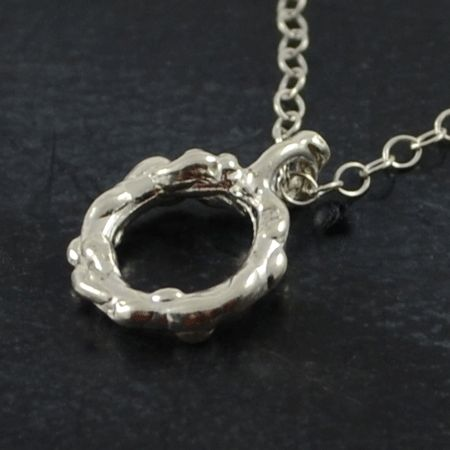 Morning Glory pendant and necklace in sterling silver.