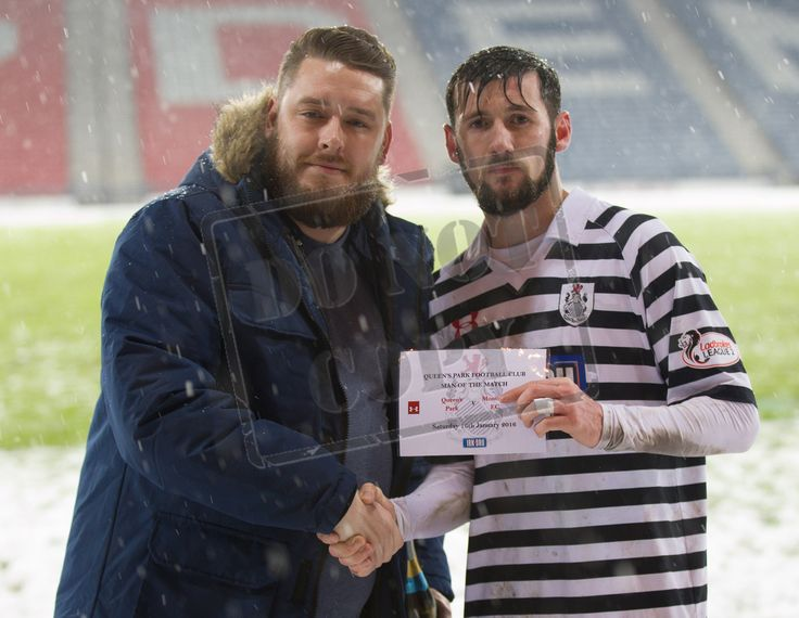 Queen's Park's John Carter - Man of the Match for the SPFL League Two game between Queen's Park and Montrose.