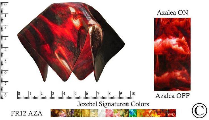 "Jezebel Signature® Small Flame Azalea Glass Pendant Replacement Glass Shade, 1 5/8"" hole"