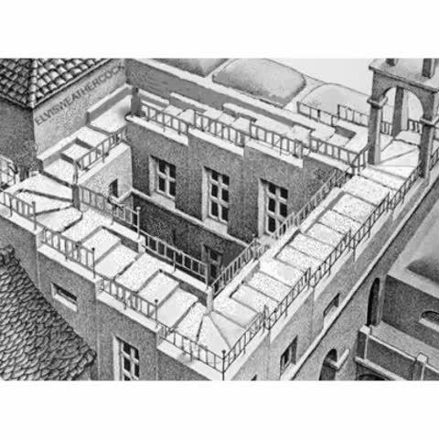Falling Down Eschers Stairs Via Rubber Dubya