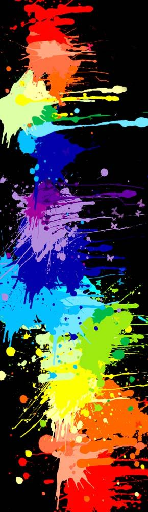 rainbow paint splatters