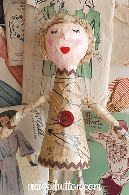 Paper mache dolls - wouldn't this be fun to do for each guest at a luncheon?