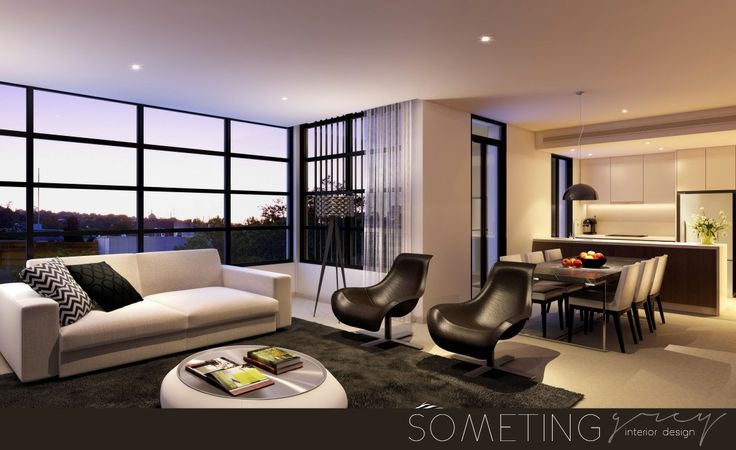 Modern living area - open plan