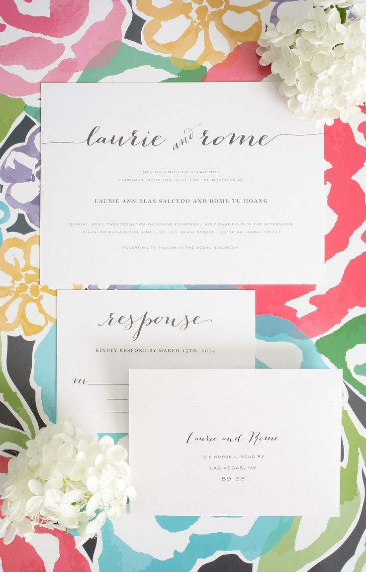 25 best Laid Back Wedding Invitations images on Pinterest ...