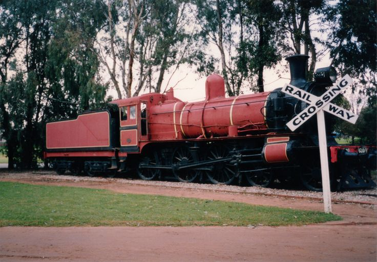 Our locomotive D3 640 in its original location and Canadian Red paintwork. Pioneer Settlement, Swan Hill, Victoria