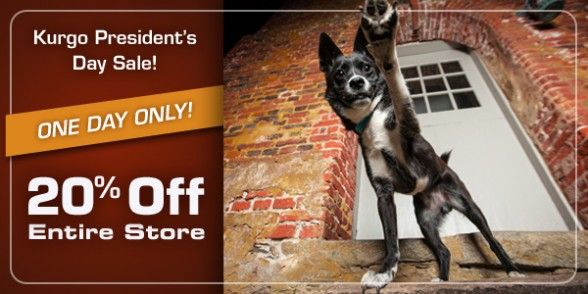 20% off coupon code for anything in the Kurgo store. Use DOGPRES14 to save on dog beds, bowls, travel gear and more! Expires Tuesday after President's Day.