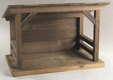 Image result for wooden nativity stable