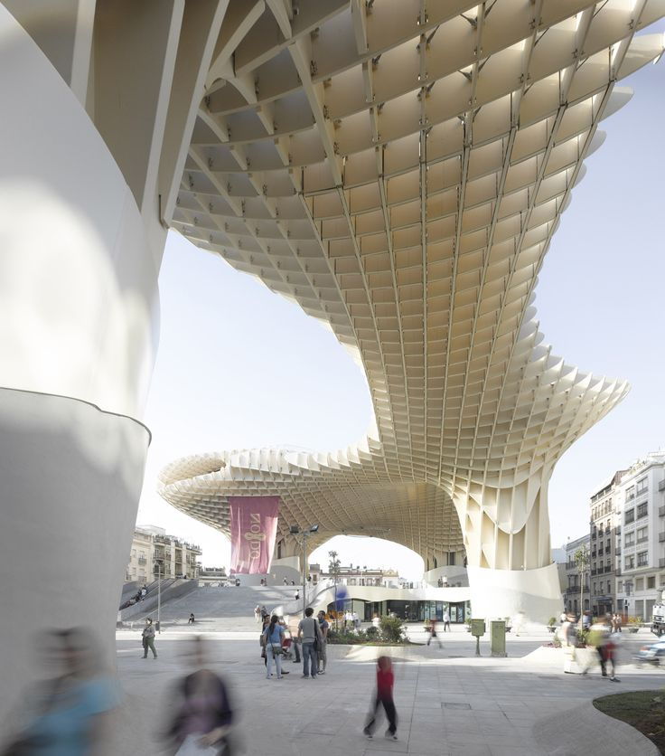 Mayer h s massive parasol in the center of seville spain is a modern wonder set against roman ruins