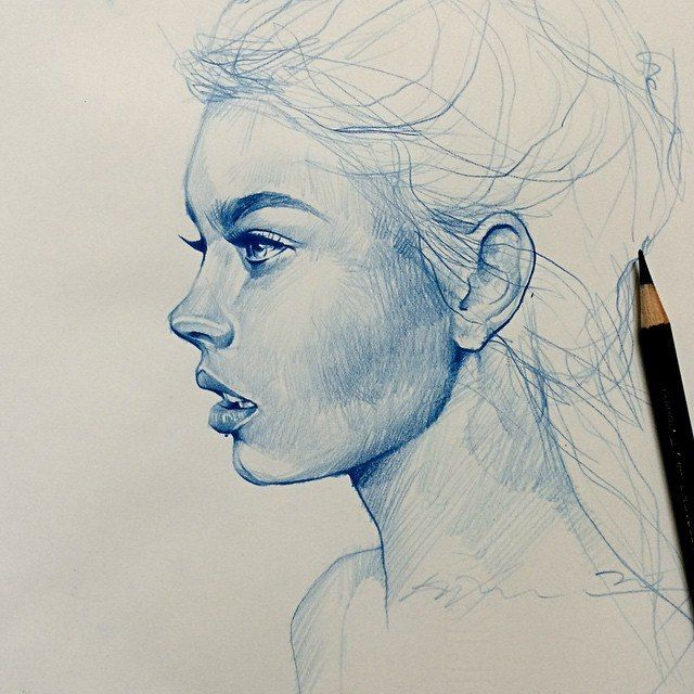 how to draw side profile eyes
