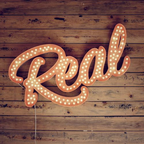 Real :: lights | light bulb | wood | type effect | 3d type | typography | shadow | signage | sign