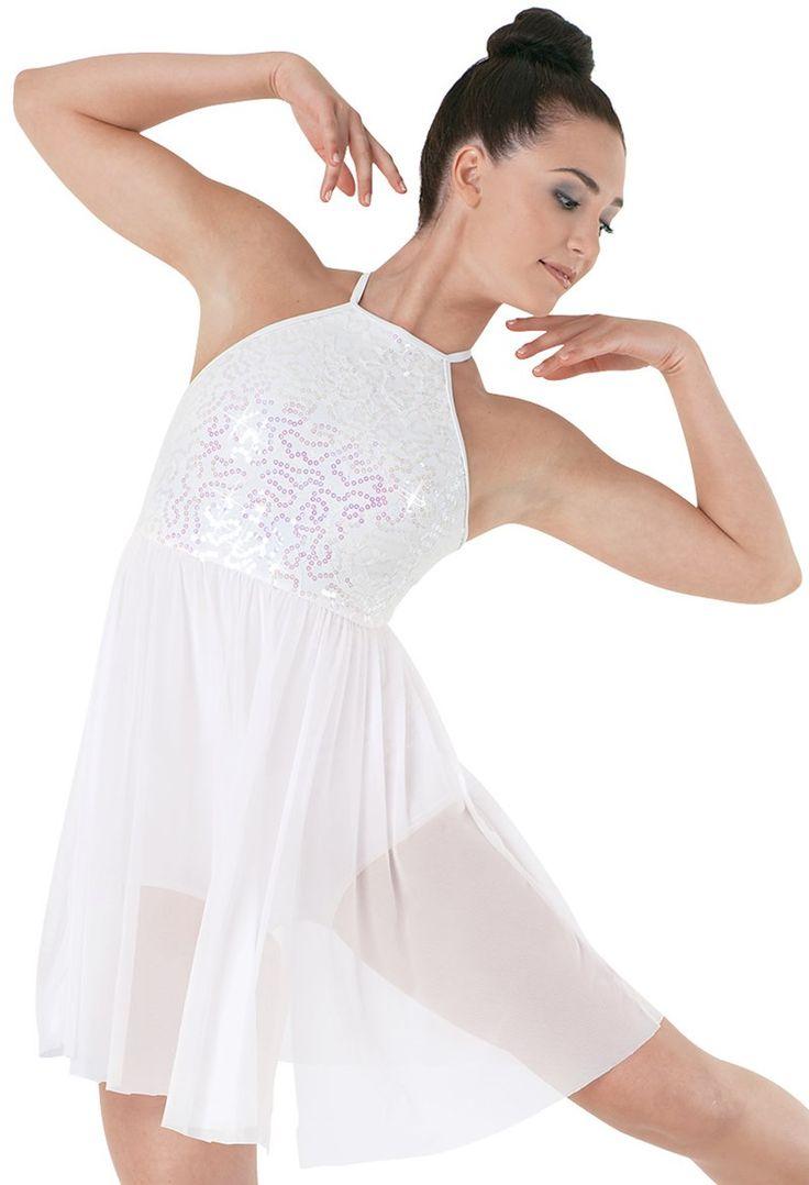 Sequin Lace Empire Waist Dress | Balera™