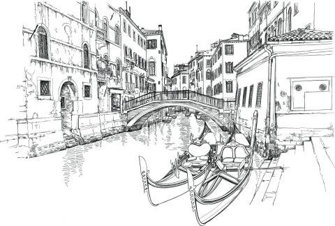 рисунок города карандашом