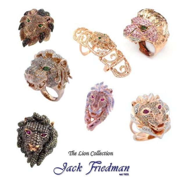 Lion jewellery from the Animal Collection jackfriedman.co.za