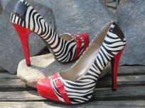 Zebra animal pattern womens shoes accessory
