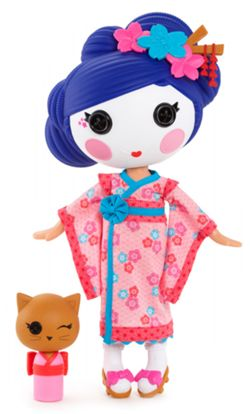 Yuki Kimono Full Size Doll (#60) Sewn on March 27th Sewn from A Kimono Pet Cat