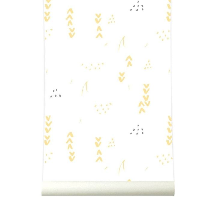 Behang Floral white-yellow Roomblush Behang bloemet wit geel van ...