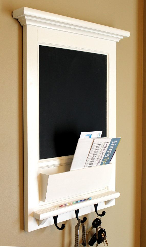 Wall Mail Organizer Furniture Wood Framed Cork by Rozemake on Etsy