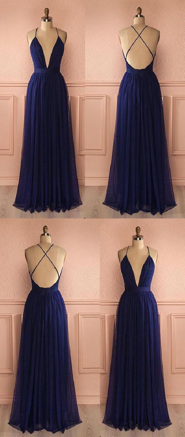 Absorbing Prom Dress Simple, Long Prom Dress, V Neck Prom Dress