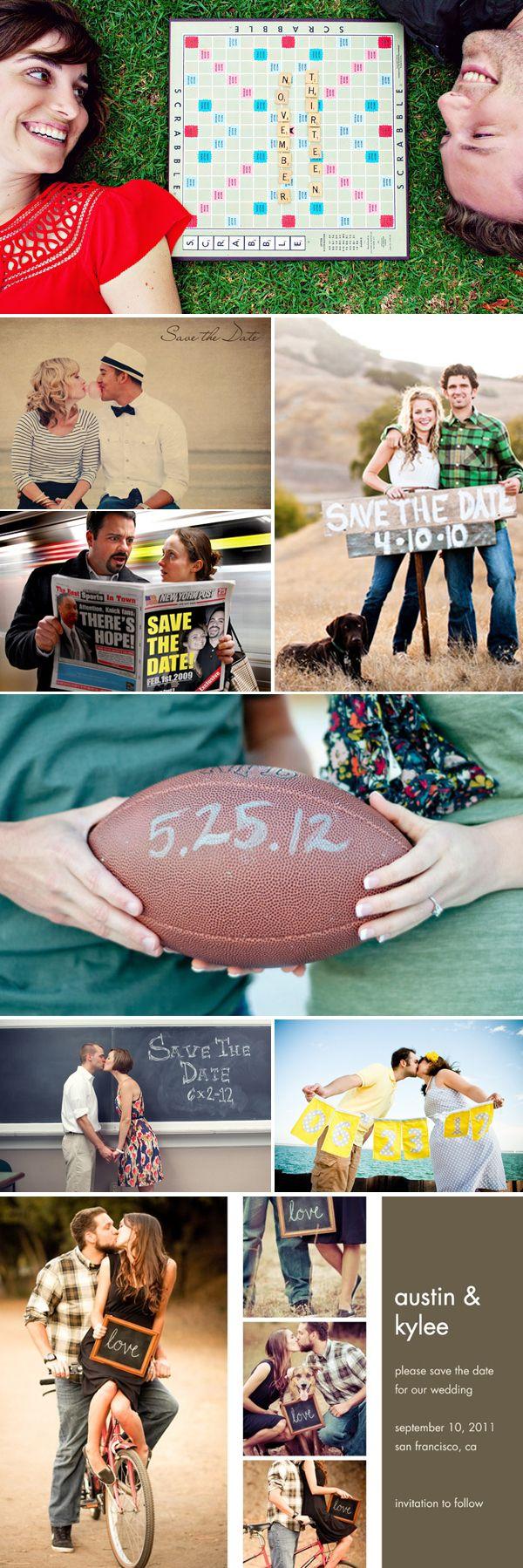 Save the date <3 the football idea....