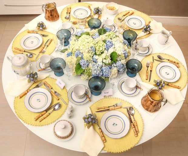 Mesa chique: café da manhã de domingo