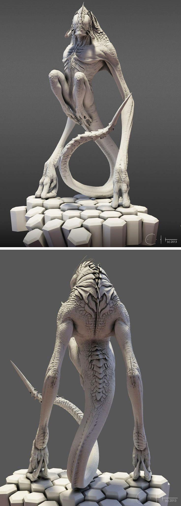 sculpture | ArtStation - Shrieker Clay Renders, Ben Erdt