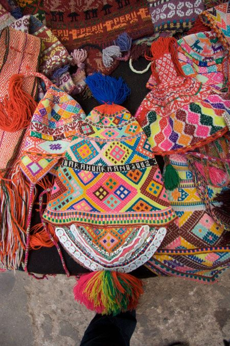 Inca Knitting Patterns : Repinned by Elizabeth VanBuskirk. Inca knitted chulo hats that Andean boys &a...