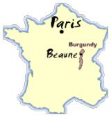 Visiting the Heart of Burgundy Wine Country, the Côte-d'Or: Burgundy Wine Map Showing the Location of Beaune