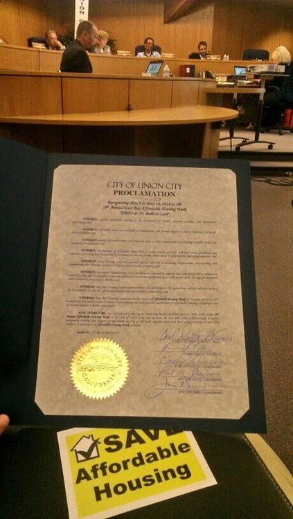 EAH Housing : A proclamation celebrating Affordable Housing Week