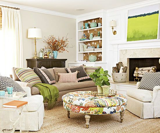 Arranging furniture in the living room//BHG.com