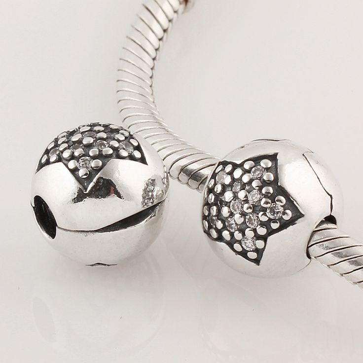 Hollow Star Clip Lock 925 Silver Pandora Compatible
