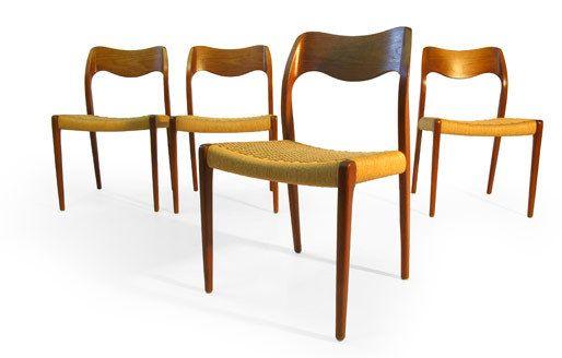 Charmant Niels Møller #71 J.l. Moller Teak Danish Modern Dining Chairs