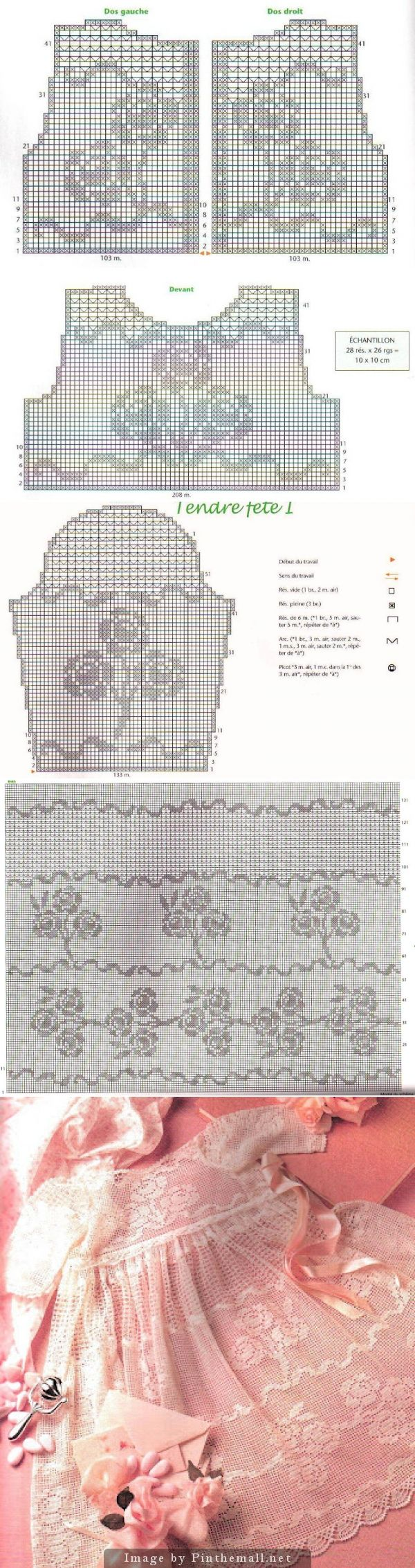Lovely filet lace dress with roses ~~ http://marialopes-maria.blogspot.com/2012/10/em-crochet-filet-com-grafico-eu-adoro.html