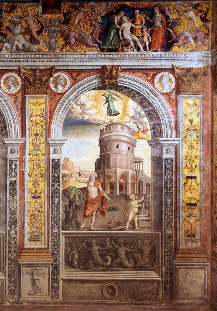 Giovanni Maria Falconetto, Mantua, Palazzo d'Arco, Sala dello Zodiaco, Sign of Virgo - Giovanni Maria Falconetto - Wikipedia