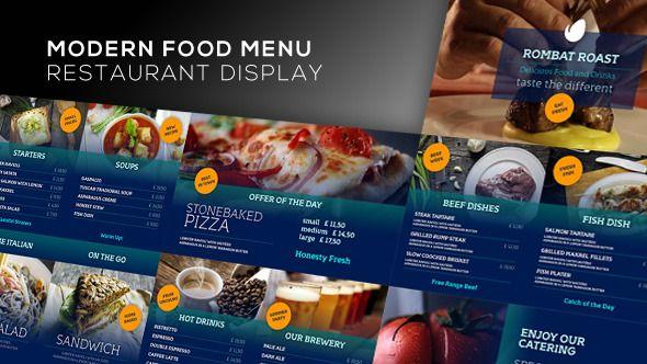 Modern Food Menu - Restaurant Display