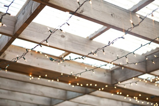 Reception Centre patio wedding - roof detail on deck. Photographer Gucio Photography and ...