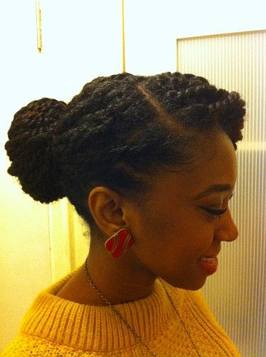 nice style for the natural hair bride :)