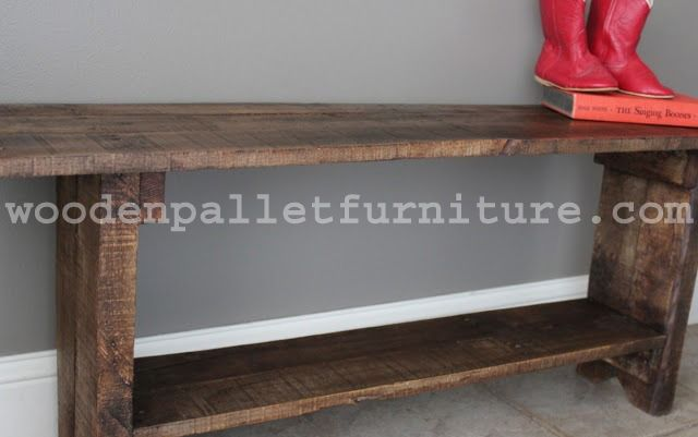 Pallet Wood Bench Instructions