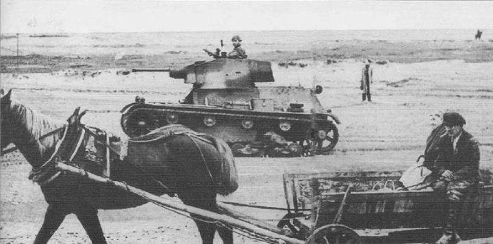 Polish 7TP light tank during September 1939