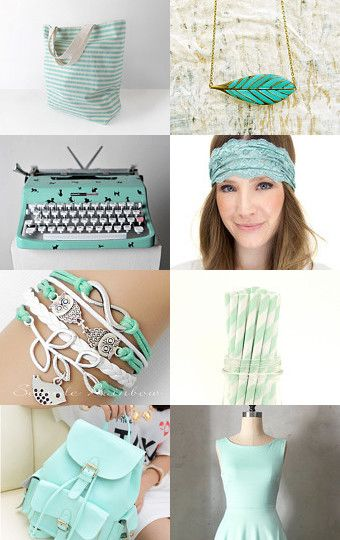 MINT FOR SUMMER by Needle And Line on Etsy--Pinned with TreasuryPin.com