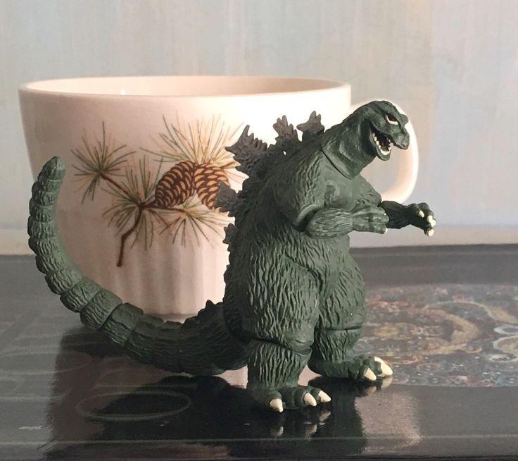 Vintage Godzilla Toy Bandai Gashapon Small Action Figure by ChocolateMintCottage on Etsy