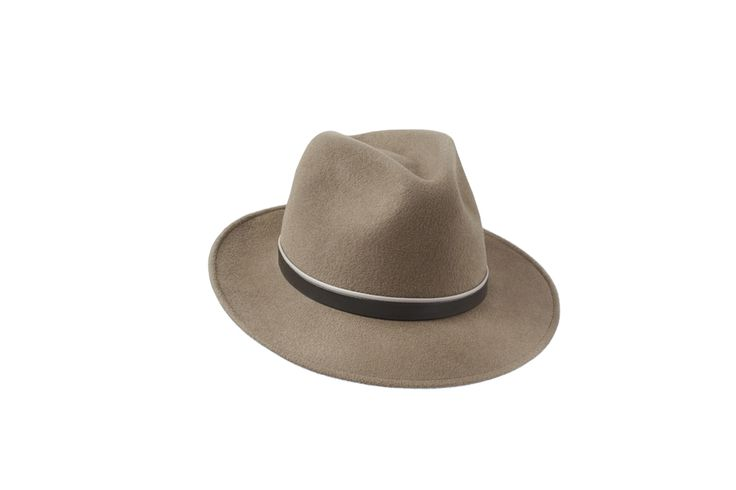 The Spring/Summer Collection | Amber Trilby | Mink | Beige & Taupe Leather Band  www.penmayne.com #trilby #hats #accessories