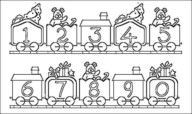 Preschool 123 Coloring Pages