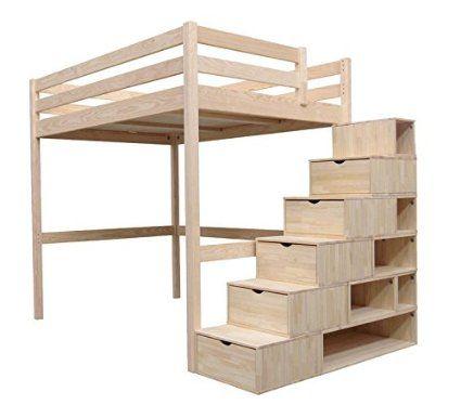 ABC muebles cama Sylvia 90 x 200 cm, diseño de escaleras