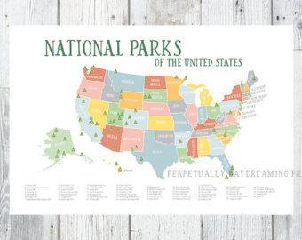 Best Us National Parks Map Ideas On Pinterest National Parks - National parks in the us map