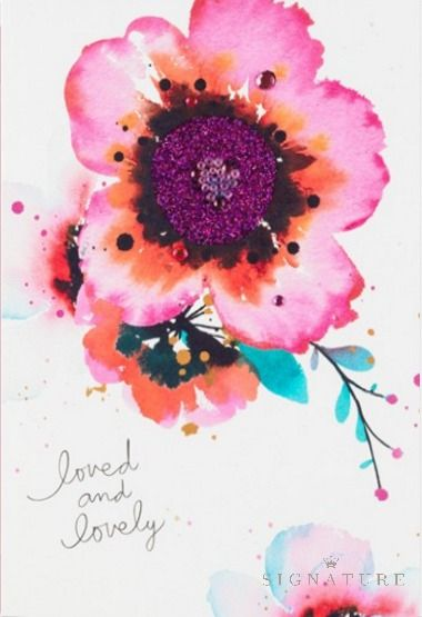 This card featuring a beautiful watercolor floral from the Hallmark Signature is the perfect birthday tribute to a sister who grows more loved and more lovely each year. This gorgeous work of art is the perfect accessory to any gift idea.